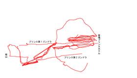 2005年03月12日苗場スキーツアートラックログ