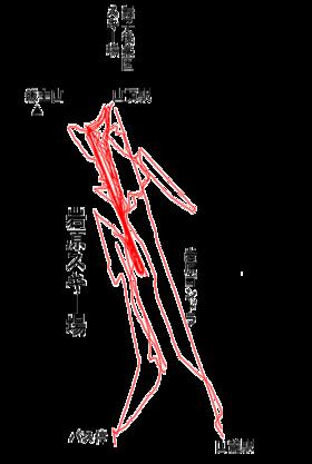 トラックログ(2007/02/18 岩原スキー場)