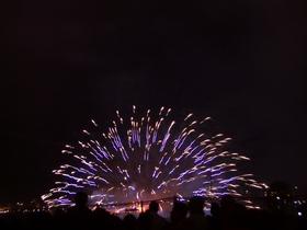 2004年諏訪湖祭湖上花火大会 Kiss of Fire 最初の1枚