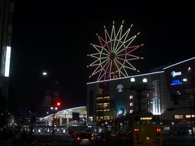 夜の鹿児島中央駅