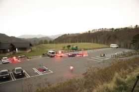 観測場所の駐車場